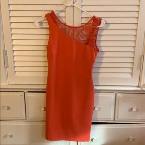 Zara orange mini dress